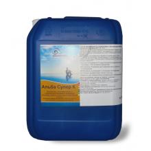 Alba Super К (жидкий). Препарат для предотвращения роста водорослей +фунгицид+бактерицид (подходит для морской воды, для бассейнов с атракционами, гидромассажных ванн). 30 л.