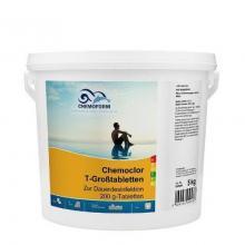Chemochlor-T-Großtabletten (табл. 200 г) таблетки для длительного обеззараживания воды в бассейне. 10 кг