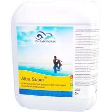 Alba Super К (жидкий). Препарат для предотвращения роста водорослей +фунгицид+бактерицид (подходит для морской воды, для бассейнов с атракционами, гидромассажных ванн). 5 л.