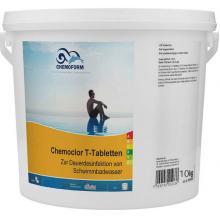 Chemochlor-T-Tabletten (табл. 20 г)  Медленнорастворимый хлорпрепарат для длительного хлорирования 10 кг