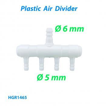 Распределитель воздуха (гребёнка) для компрессора на 4 выхода диаметром 5 мм и входом на d6 мм