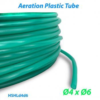 Шланг воздушный гибкий из ПВХ материала для прудов и аквариумов с внутренним диаметром 4 мм и внешним диаметром 6 мм