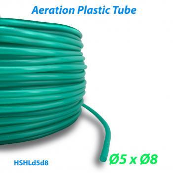 Шланг воздушный гибкий из ПВХ материала для прудов и аквариумов с внутренним диаметром 5 мм и внешним диаметром 8 мм