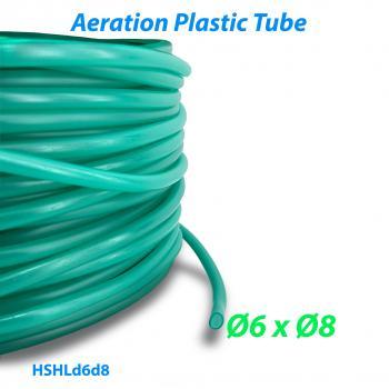 Шланг воздушный гибкий из ПВХ материала для прудов и аквариумов с внутренним диаметром 6 мм и внешним диаметром 8 мм