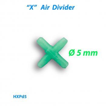 Распределитель воздуха X-образный пластиковый 5 мм