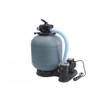 """Фильтрационный коиплект 4 м3/час, Samoa 300, 1.25"""" верхний 5-ти ходовой клапан, насос с предфильтром FIJI 0.18 кВт, с подставкой"""