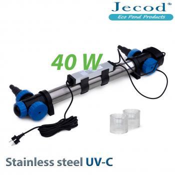 УФ стерилизатор для пруда STU-40 в корпусе с нержавеющей стали