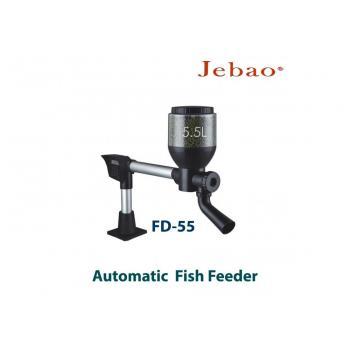 Автоматическая кормушка для прудовых рыб Jebao Fish Feeder FD-55 с объемом контейнера для корма на 5,5 литров