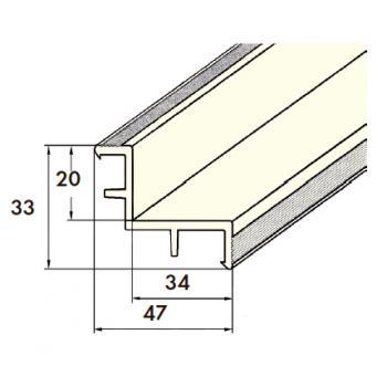 Уголок переливного желоба Kripsol - длина 2м, 20х34мм
