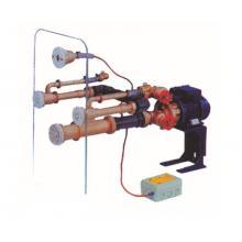 Окончательный комплект гидромассажной стенки Standard на 2 форсунки под бетон (лицевые панели форсунок, заборного устройства, пневмокнопки исполнение нерж.сталь + насос 0,5 кВт/230В + пускатель насоса)