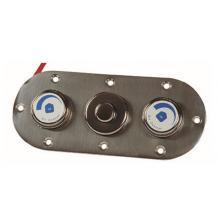 Лицевая панель управления аттракционом Fitstar на одну пневмокнопку и два воздухорегулятора