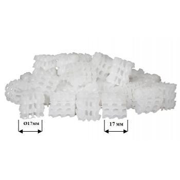 Бионаполнитель (биозагрузка) Helix Ø17 х 17 белый