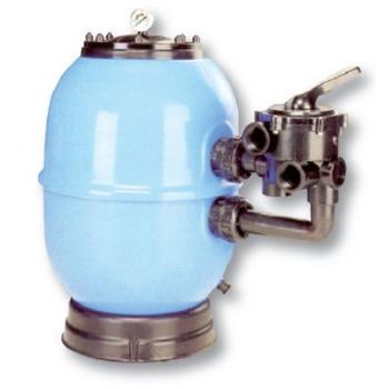 Фильтровальная емкость LISBOA, 450 мм, 8 м3/час шестиходовой боковой клапан, 70 кг песка