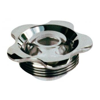 Впускная форсунка - фланец нерж.сталь, прозрачный глазок 18 мм