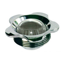 Впускная форсунка - фланец нерж.сталь, прозрачный глазок 25 мм