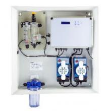Измерительно-дозирующая станция Kontrol Guard Max pH-FCl Amp с мембранными насосами Kompact 5 л/час + ModBus