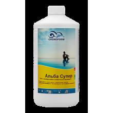 Alba Super К (жидкий). Препарат для предотвращения роста водорослей +фунгицид+бактерицид (подходит для морской воды, для бассейнов с атракционами, гидромассажных ванн). 1 л.