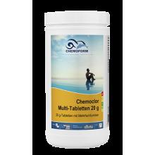 Multitab (табл. 20г) таблетки для комплексной обработки и длительного обеззараживания воды в бассейне.