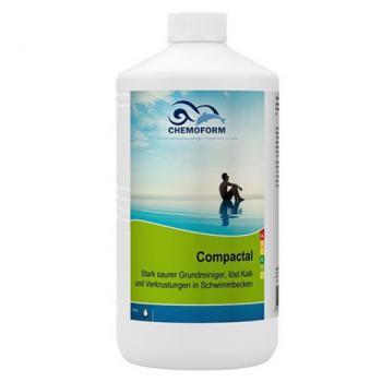 Compactal (жидкий). Кислотный высокоэффективный очиститель ватерлинии для стационарных  бассейнов