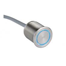 Пьезокнопка с подсветкой RGB, нерж.сталь, IP69,, кабель 15 м