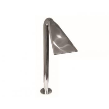 """Водопад """"Гусак"""" Круглая труба Ø 76 мм Полированный, высота 1250мм., ширина сопла 300 мм."""