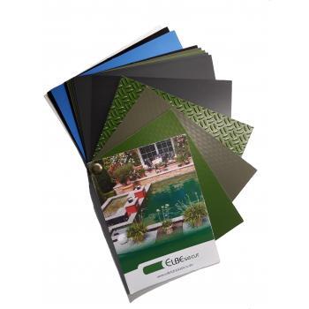 Плёнка ПВХ для искусственных водоёмов, зеленая, неармированная, толщина 1.45мм, ширина 2 м