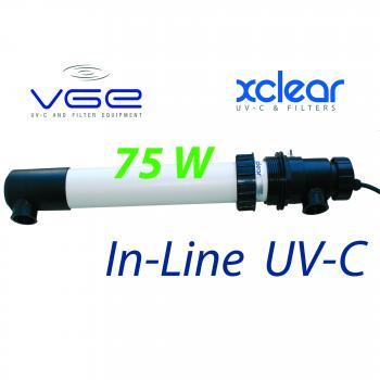 Комплект встраиваемой лампы UV-C XClear In-Line  75W