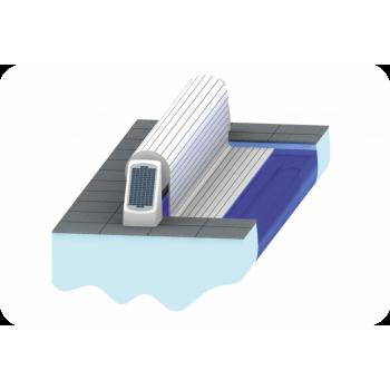AquaTop - жалюзийное покрытие. ECO TOP. Надводное расположение