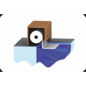 AquaTop - жалюзийное покрытие. TOP MOUNT. Надводное расположение
