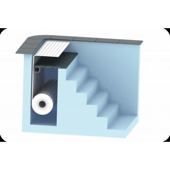 AquaTop - жалюзийное покрытие. Подводное размещение за лестницей