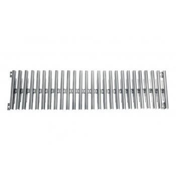Решетка переливного лотка AQA прямая нерж.сталь, 500х195 мм, высота 22 мм,  0.5м.п