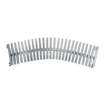 Решетка переливного лотка AQA радиусная нерж.сталь, 500х195 мм, высота 22 мм,  0.5м.п